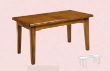 Tavolo massello allungabile fino  a 3,60 mt , gambe piramide